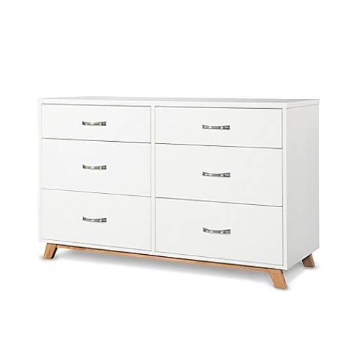 Child Craft SOHO 6-Drawer Double Dresser in White/Natural