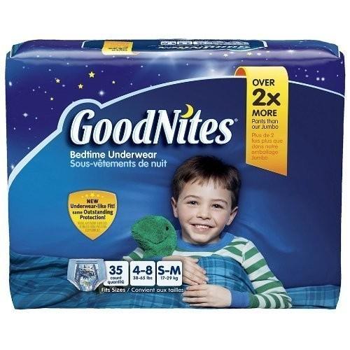 GoodNites Bedtime Underwear for Boys, Small/Medium, 35 Count