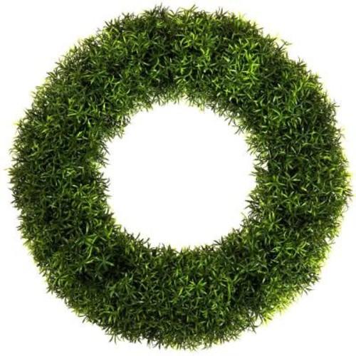 Pure Garden 20 in. Round Grass Wreath