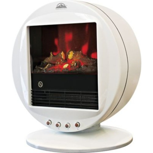 Himalayan Heat 1500W Electric Fireplace Heater, White