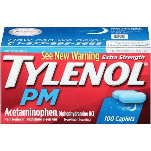 Tylenol PM 500 mg, 100 ct.