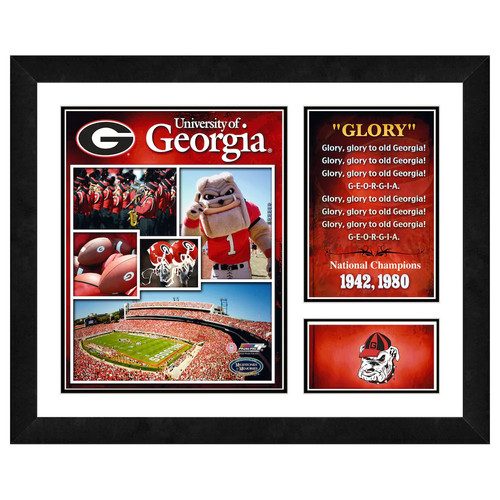 Georgia Bulldogs Milestones & Memories Framed Wall Art