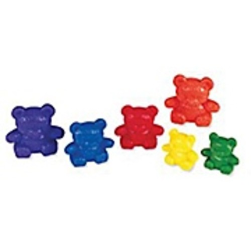 Learning Resources Three Bear Family Counters Rainbow Set