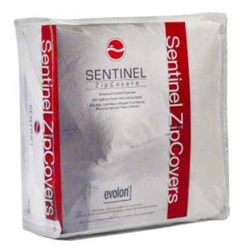 Sentinel Crib 6 in. Evolon Bed Bug, Dust Mite and Allergen Proof Allergy Mattress Protector and Zip Cover Encasement