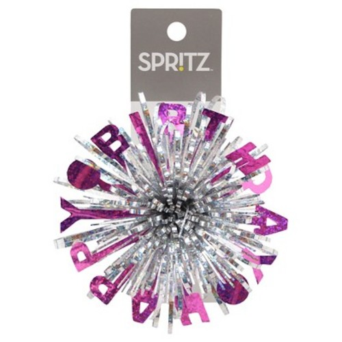 Happy Birthday Purple Gift Bow Spritz