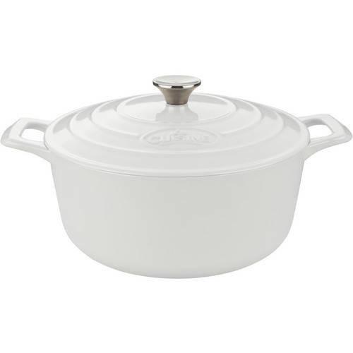 La Cuisine - Cast-Iron Round Covered Casserole - White