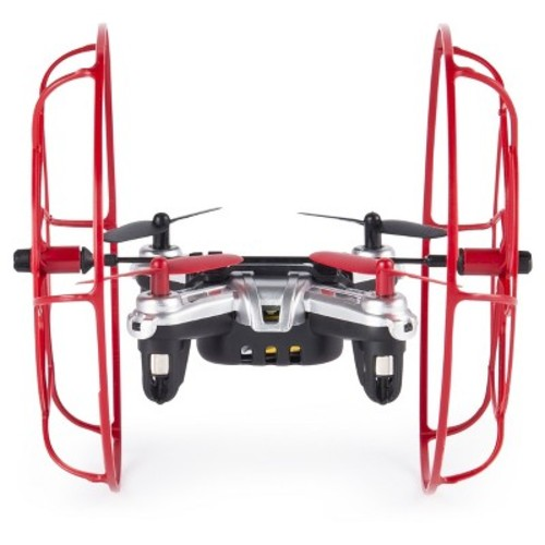 Air Hogs Hyper Stunt Drone - Unstoppable Micro RC Drone - Red