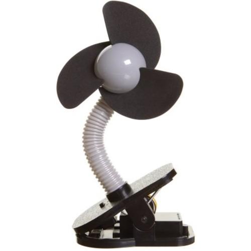 Dreambaby Clip-On Stroller Fan - Silver with Black Foam
