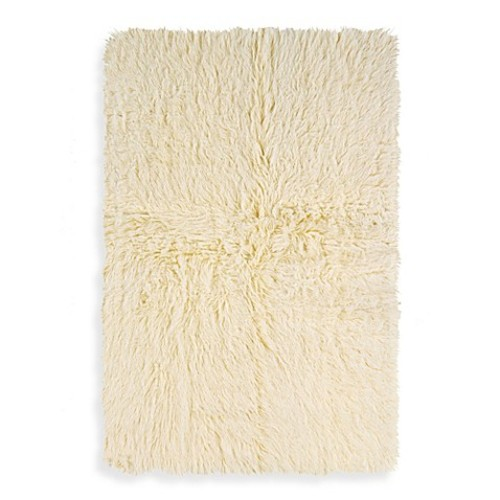 Linon Home Flokati 2-Foot 4-Inch x 4-Foot 3-Inch Rug in Natural