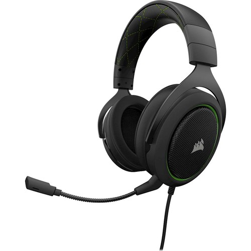 CORSAIR - HS50 Wired Stereo Gaming Headset for PC, Xbox One, PS4, Nintendo Switch and Mobile Devices - Green