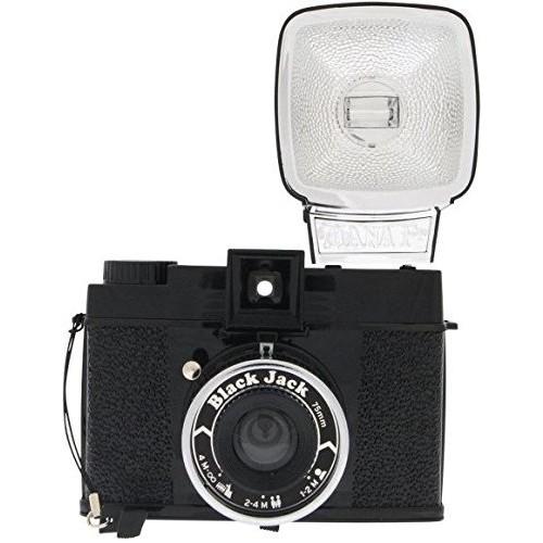 Lomography Diana F+ Black Jack Edition - Medium Format Film Camera & Flash