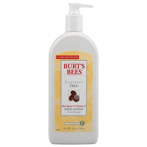 Burt's Bees: Shea Butter & Vitamin E Body Lotion, Fragrance Free 12 oz