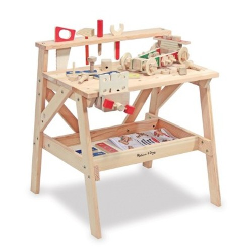 Melissa & Doug Solid Wood Project Workbench Play Building Set [Standard Version]