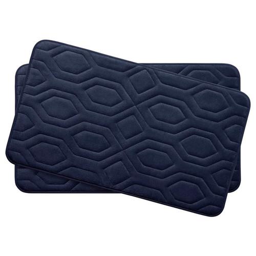 Turtle Shell Memory Foam 17 in. x 24 in. 2-Piece Bath Mat Set w/ BounceComfort Technology