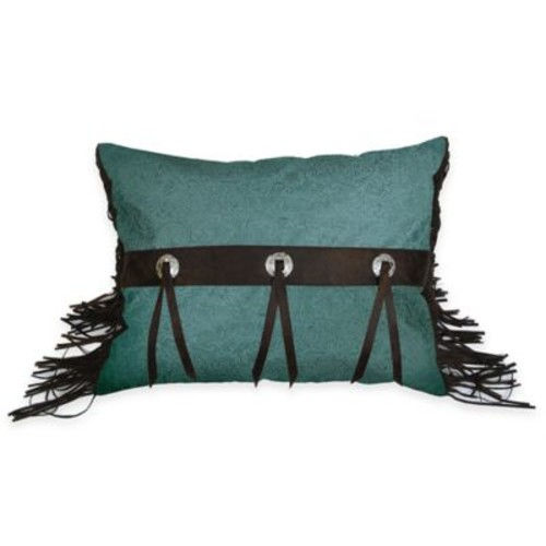 HiEnd Accents Cheyenne Rectangle Accent Pillow in Turquoise
