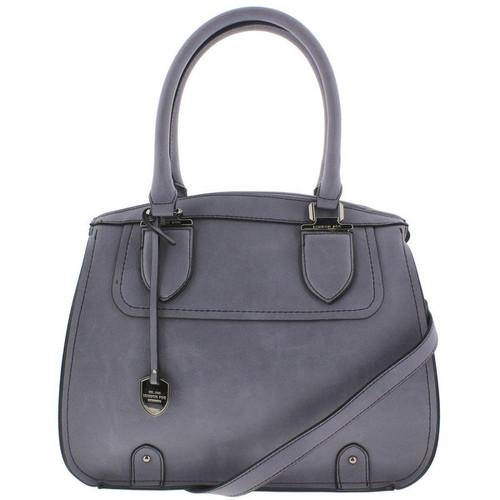 London Fog Womens Satchel Handbag Faux Leather - LARGE