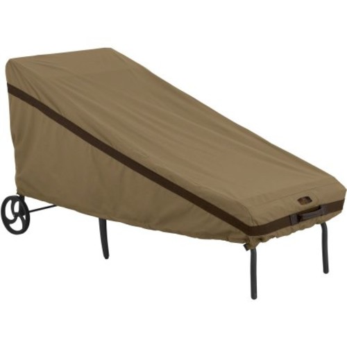 Classic Accessories Hickory Patio Chaise Furniture Storage Cover, Tan