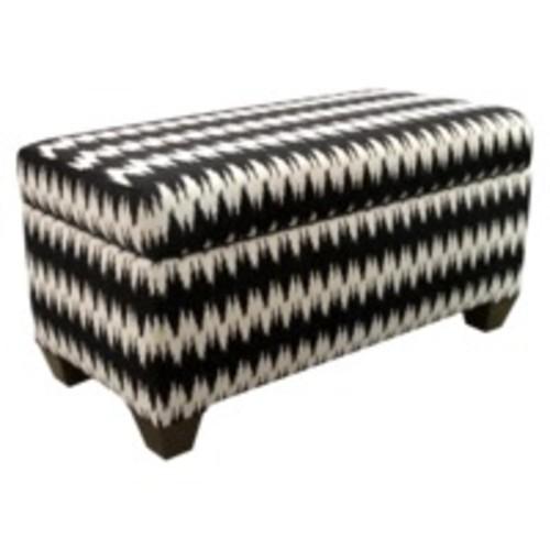 Skyline Gopala Storage Bench - Black/White