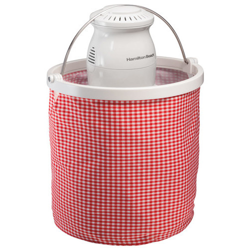 Hamilton Beach - Collapsible Bucket Ice Cream Maker - Red/White