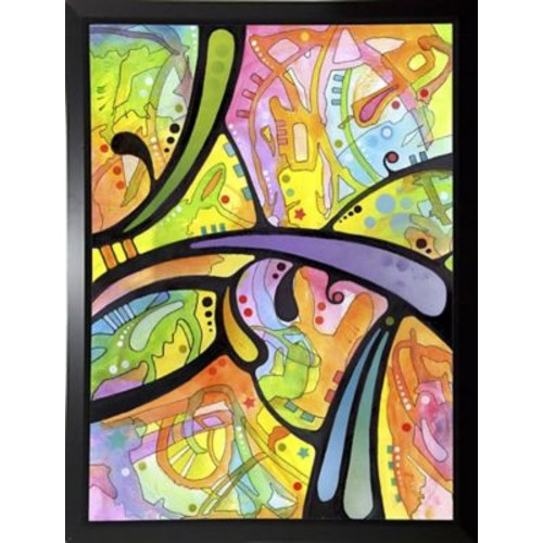 East Urban Home 'Abstract' Graphic Art Print; Budget Saver Framed