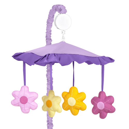 Sweet Jojo Designs Danielle's Daisies Collection Multicolored Musical Mobile