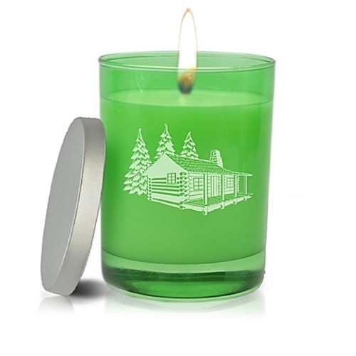 Carved Solutions Gem Collection Cabin Soy Jar Candle in Emerald