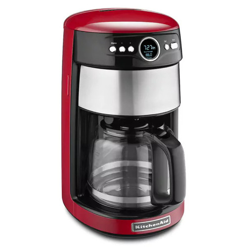 KitchenAid KCM1402 14 Cup Glass Carafe Coffee Maker, Empire Red