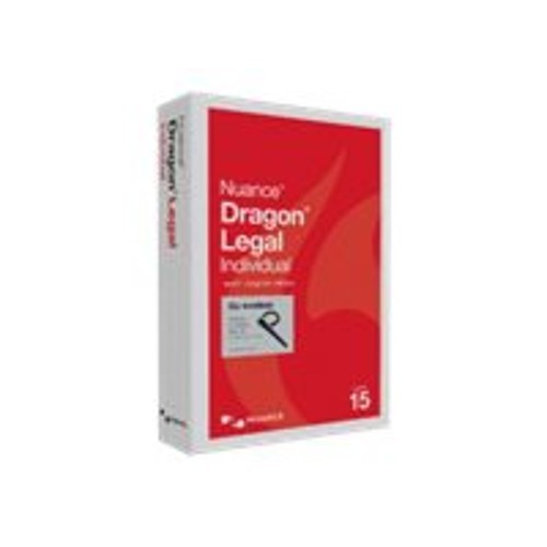 Nuance Communications Dragon Legal Individual Wireless - (v. 15) - box pack - 1 user - Win - US English (A509A-GN9-15.0)