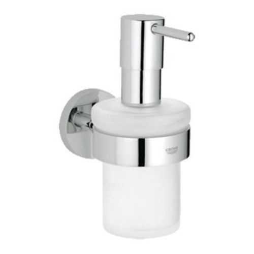 GROHE Essentials Wall-Mounted Soap Dispenser with Holder in StarLight Chrome