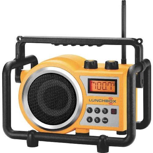 Sangean LB-100 Compact AM/FM Ultra Rugged Radio Receiver [Yellow]