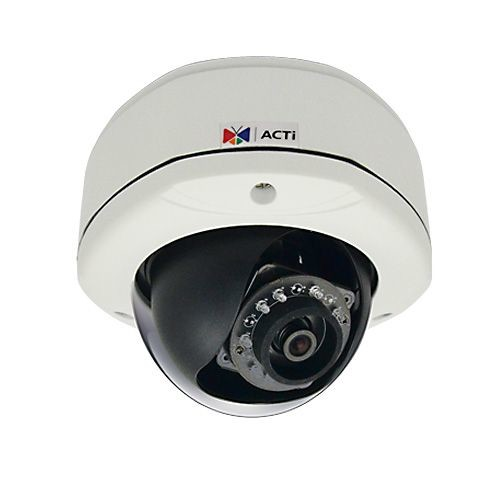 ACTI 1MP Dome Camera - Outdoor, 30fps, Night Vision, Adaptive IR LED - D71A