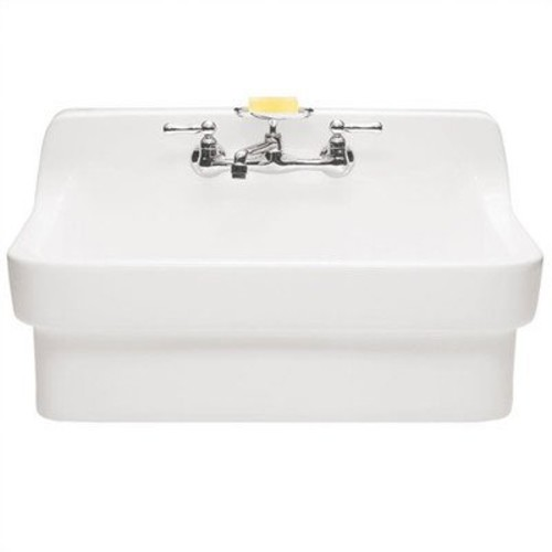 Country Kitchen Sink Finish: White