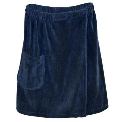 Radiant Sauna Men's Spa and Bath Terry Cloth Towel Wrap in Navy Blue