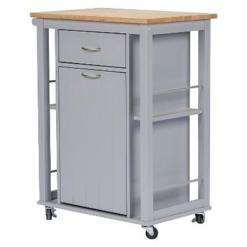 Baxton Studio Yonkers Kitchen Cart