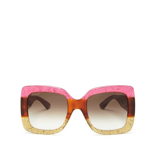GUCCI Oversized Square Sunglasses, 55Mm