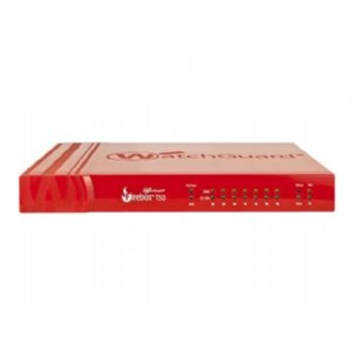 WatchGuard Firebox T50-W - Security appliance - with 1 year Standard Support - 7 ports - 10Mb LAN, 100Mb LAN, GigE - 802.11a/b/g/n/ac - Dual Band (WGT51001-US)
