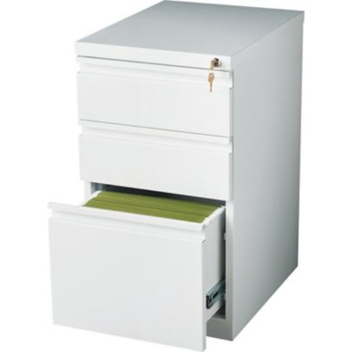 Staples 3 Drawer Mobile/Pedestal File, White,Letter, 15''W