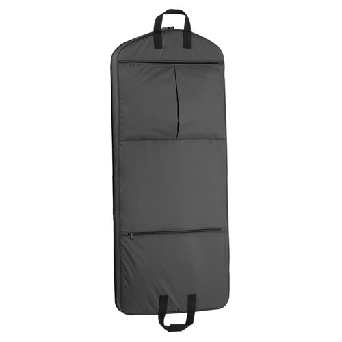 WallyBags 52 Inch Garment Bag with Pockets [Black]