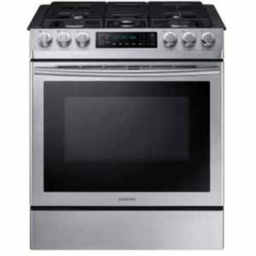 Samsung 5.8 cu. ft. Slide-in Gas Range with Fan Convection - Stainless Steel