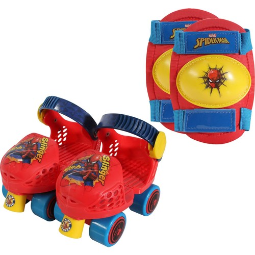 Playwheels Boys' Spider-Man Roller Skates and Knee Pads