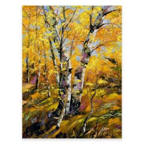 Golden Birch Outdoor All-Weather Canvas Wall Art