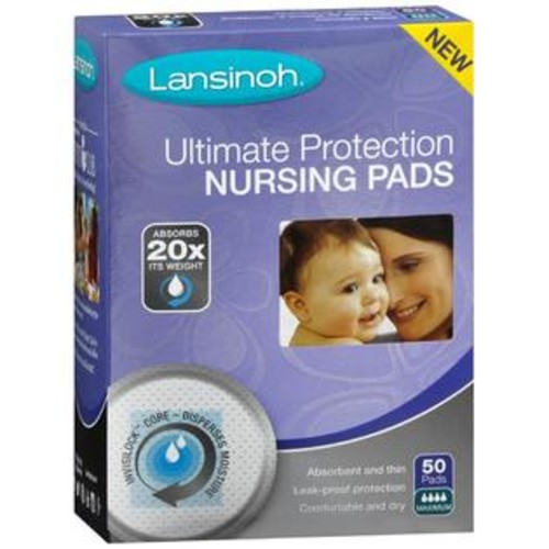 Lansinoh Ultimate Protection Nursing Pads Maximum, 50 Count