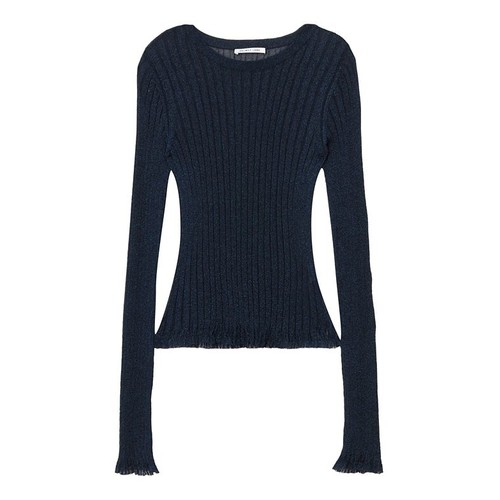 HELMUT LANG Casey Lurex Long Sleeve Top
