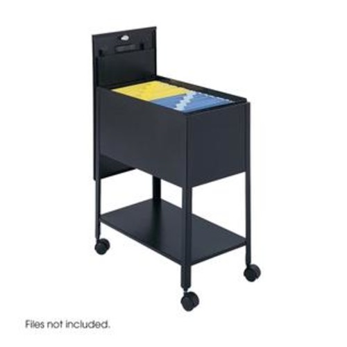 Safco Products Safco 5362BL Black Extra Deep Mobile Tub File with Lock- Letter Size