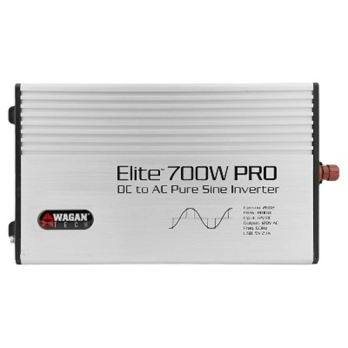 Elite 700W PRO Pure Sine Wave DC to AC Power Inverter