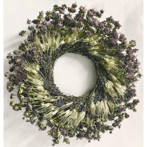 Dried Flowers and Wreaths LLC Lemon Mint Target 22'' Wreath