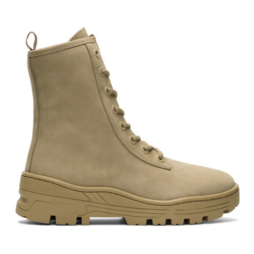Taupe Nubuck Military Boots