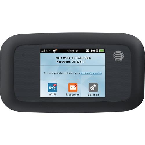AT&T - Velocity 4G LTE Wi-Fi No-Contract Hotspot - Black