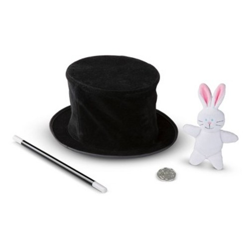 Melissa & Doug Magic in a Snap Pop-Up Magical Hat with Wand & Tricks Set