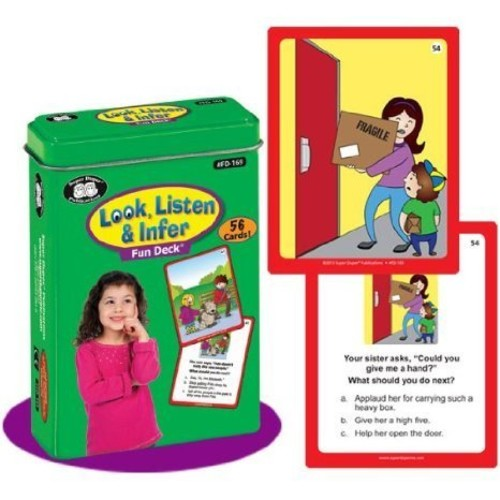 Look, Listen & Infer Fun Deck Flash Cards - Super Duper Educational Learning Toy for Kids